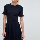 ***Акция! Собирайте лоты!*** Замечательно темно-синее платье с кружевом, размер хс-с, сост отличное