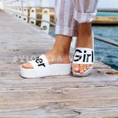 Шлепанцы super girl белые 39=24 см размер. на танкетке, силиконовые, пляжные