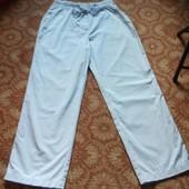 Снова в тренде широкие летние хлопковые брюки M&S,Турция,размер-L