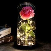 Шикарная роза в колбе подсветкой