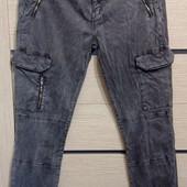 Стрейчевые брюки Zara premium denim collection