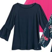 ☘ 1 шт ☘ Ніжна блуза з віскози від Blue Motion (Німеччина), наш розмір: 56-58 (XL 50/52 євро), синій