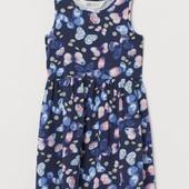 Летнее платье, сарафан для девочки от H&M синиее 2-4г