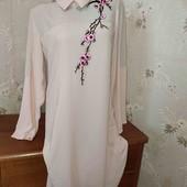 Платье с вышивкой! 48-50 размер