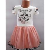 Платье с котиком Турция 3 года