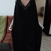 Очень красивое нарядное платье размер л-хл замеры на фото