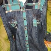 Шикарная летняя джинсовая рубаха. Турция