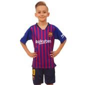 Футбольная форма детская Барселона Месси 150 см 158 см