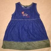 Джинсовое платье сарафан для девочки 4 лет
