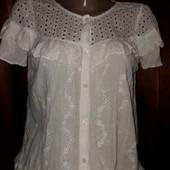 ❤Белая блузка из хлопка от Zara.