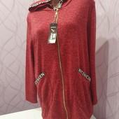 Женская кофта с капюшоном Amina. Размер 48