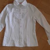 Блузка-рубашка в школу 134/140 рост
