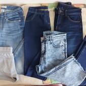 Комплект вещей для девушки 44/46: джинсы, бриджи, шорты, майки
