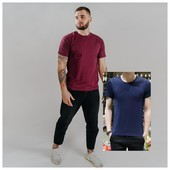 Мужская однотонная футболка 48