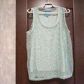 Фирменная красивая блуза в отличном состоянии р.16-18