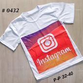 Лот футболка Инстаграм размеры 128-134