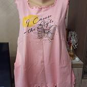 Классная майка для дома и сна, верх от пижамы Vienetta р.4xl (58-62) Батал!