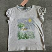 Блиц! Классная фирменная футболка от Рерсо! на 5-6 лет рост 116! замеры! хлопок