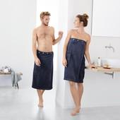Отличное махровое полотенце килт для сауны, бани от Tchibo германия. цвет серо-фиол в лоте