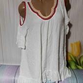 Вау! Шикарная блуза размер 50/52