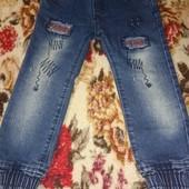 Детские джинсы на 1-1,5 года,в отличном состоянии