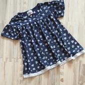 Шикарная фирменная футболка -блузочка девочке 7 лет. Состояние идеальное. Без запаха! Сотни лотов.