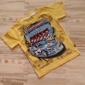 Шикарная фирменная футболка мальчику 2-3 лет. 98. Идеальное состояние, без запаха. Сотни лотов.
