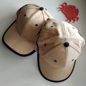Новая бежевая кепка-бейсболка, хлопок 1 в лоте