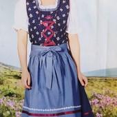 Оригинальный комплект платье, фартук и блузка на девочку Pepperts Германия размер 140