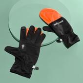 ☘ Сенсорні рукавички для бігу 2 в 1 DryActive Plus, світловідбиваючі, Tchibo(Німеччина) 7,5 унісекс