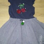 Распродажа!!!! Платье с паетками перевертышами 5-6лет замеры на фото