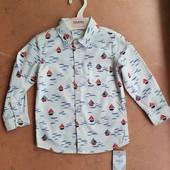 ♡ Крутая рубашка для мальчика от Marks&Spenser, 18-24 мес (90 см)