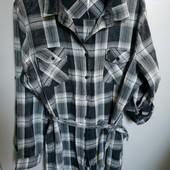 Рубашка, туника платье, размер 46, хлопок