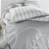 ☘ Двостороння атласна постільна білизна Tchibo, на 1 подушку: 80 х 80 см, на 1 ковдру: 135 х 200 см