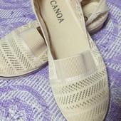 Женские текстильные мокасины