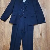 Костюм Lilus темно-синій 122-128см+сорочка