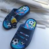 Дитячі шльопанці шлепки сині, футбол 31✓ 20 .2-21 см от краев