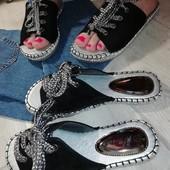 Шлепки шнурокПольша Отлично сочетаются с джинсовыми