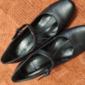 Clarks soft uk4/37р элегантные кожаные туфельки
