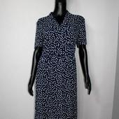 Качество! Стильное натуральное платье в горошек от немецкого бренда Peter Hahn, новое сотояние