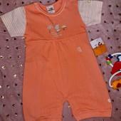 Обалденный,нежный ромпер на малышку с рождения до 1-2 мес.