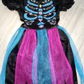 Карнавальное платье на Хеллоуин на 4-6лет замеры на фото
