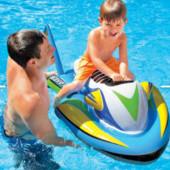 Надувной скутер, водный мотоцикл для купания intex