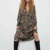 Красивое шелковое платье от ZARA 34p.