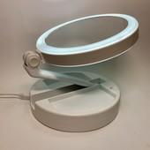 Зеркало косметическое с подсветкой, раскладное , двухстороннее с увеличением Mirror