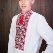 Суперакция! распродажа! натуральная хлопковая подростковая вышиванка підліткова вишиванка
