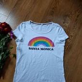 Білосніжна футболка, веселка ❤️