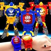 Детские часы робот трансформер часы игрушка