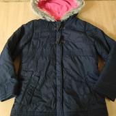 куртка на холодную осень, теплую зиму 128-140 6-8 лет