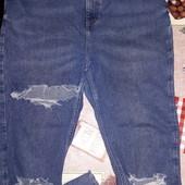 Стрейчевые Модные джинсы(высокая посадка)р.48-52 см.замеры сост.отл
